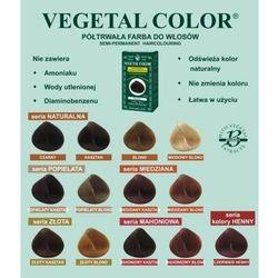 Herbatint półtrwała farba do włosów Vegetal Color seria Złota 4D złoty kasztan