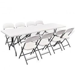 Stół ogrodowy rozkładany + 8 krzeseł (244 cm) Zapisz się do naszego Newslettera i odbierz voucher 20 PLN na zakupy w VidaXL!