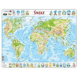 Puzzle Świat mapa fizyczna 80