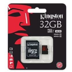 Kingston microSD 32GB SDCA3/32GB SDHC Class10 UHS 3 90/80 MB/s