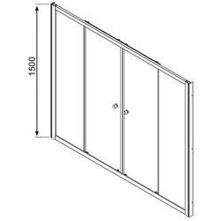 Radaway Vesta DWD zabudowa nawannowa - drzwi przesuwne 180 cm 203180-01