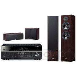 Yamaha MusicCast RX-V481 (czarny), NS-F51/NS-P51 (orzech)