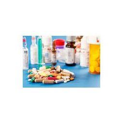 Foto naklejka samoprzylepna 100 x 100 cm - Leki tabletki i kapsułki fiolek