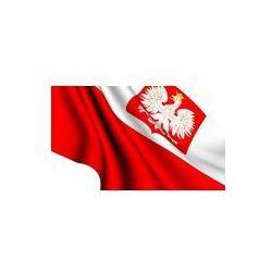 Foto naklejka samoprzylepna 100 x 100 cm - Flaga Polski