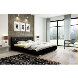 VICTORIA łóżko 180 cm tapicerowane czarne - 180 x 200 cm
