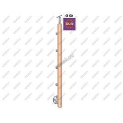 Stĺpik DUB (OAK) D50mm, 4xd12mm, v=90 cm, BK-Schod