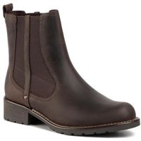 Sztyblety CLARKS - Orinoco Hot 261465654 Dark Brown Nub