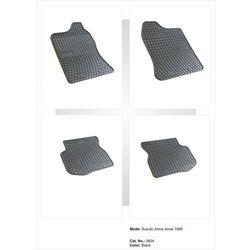 Dywaniki gumowe czarne z kompletem stoperów - Suzuki Jimny od 1998