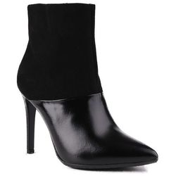 1032 Visconi eleganckie czarne botki skórzane