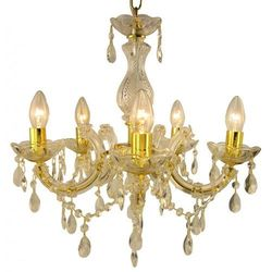 Żyrandol LAMPA wisząca MARIA TERESA 30-94615 Candellux metalowa OPRAWA świecznikowa kryształki złoty
