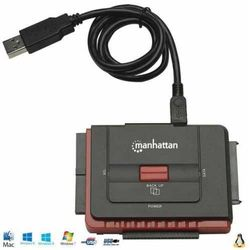 Manhattan USB 2.0 SATA/IDE Adapter 3-in-1 adapter z funkcją One-touch Backup