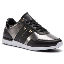 52eee97b69db6 Sneakersy TOMMY HILFIGER - Tommy Essential Leather Sneaker FW0FW03688 Black  990