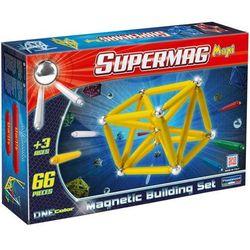 Supermag Maxi One Color, klocki magnetyczne, 66 elementów Darmowa dostawa do sklepów SMYK