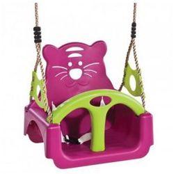 Huśtawka kubełkowa siedzisko dla dzieci 3w1 purpurowa
