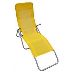 Leżak ogrodowy - żółty