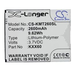 Kazam Trooper2 6.0 / KXX60 2600mAh 9.62Wh Li-Polymer 3.7V (Cameron Sino)
