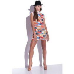 Mozaikowa sukienka z szyfonu Puzzles