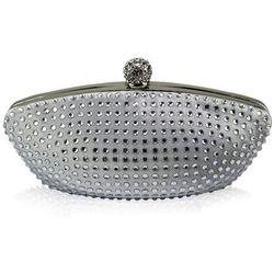 Srebrna torebka wizytowa szkatułka z cyrkoniami SILVER - srebrny