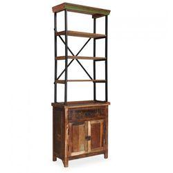 Kredens Z Półkami Wykonany Z Drewna Z Odzysku 65x30x180 Cm