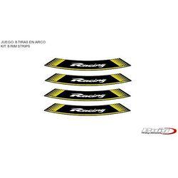 Paski na felgi PUIG (wzór RACING, kolor żółty)