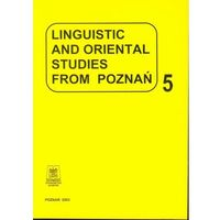 Linguistic and oriental studies from Poznań vol. 5 (opr. miękka)