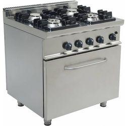 Kuchnia gazowa z piekarnikiem gazowym | 4 palniki | 800x700x850mm