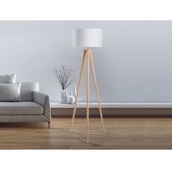Lampa stojaca - lampa podlogowa w kolorze bialym - oswietlenie - NITRA