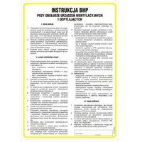 Instrukcja BHP przy obsłudze urządzeń wentylacyjnych i odpylających