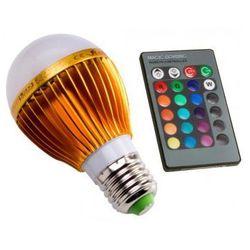 Superled Żarówka LED RGB z pilotem E27 5W (50W) 400lm 230V 3112