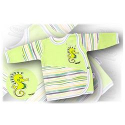 Kaftanik niemowlęcy zapinany z boku Aqua 56-62 zielony