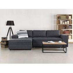 Sofa ciemnoszara - Sofa narozna - Sofa rozkladana - Sofa tapicerowana - KIRUNA