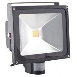 Superled Oprawa lampa naświetlacz halogen Led 30W barwa ciepła z czujnikiem ruchu PIR