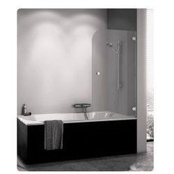 Parawan nawannowy SanSwiss PURB jednoczęściowy prawy 80x140 cm, chrom szkło przeźroczyste PURBD08001007