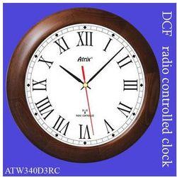 Duży zegar drewniany sterowany radiowo #3