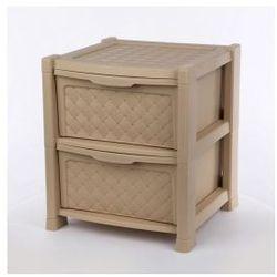Regał szafka komoda Arianna 2 szuflady beżowy
