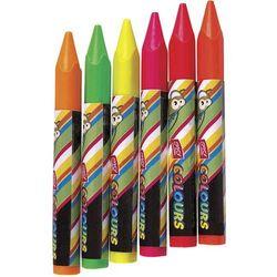 Kredki świecowe EASY 836147 trójkątne fluorescencyjne 6 kolorów