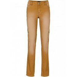 Spodnie bojówki bonprix sarni brąz