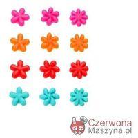 12 Znaczków do szklanek Lurch Kwiatki