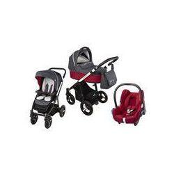 Wózek wielofunkcyjny 3w1 Lupo Husky Baby Design + Cabrio Fix GRATIS (czerwony 2016)