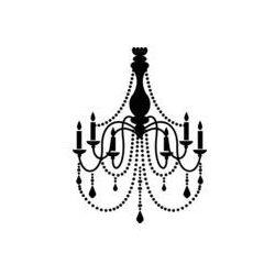 Foto naklejka samoprzylepna 100 x 100 cm - Czarny żyrandol