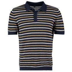 Roberto Collina Koszulka polo blue/yellow/white stripes