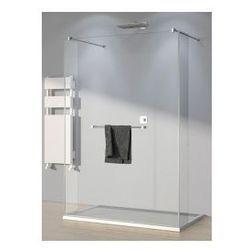 Ścianka stała z parą krótkich ścianek SanSwiss WALK-IN Pur szerokość 90 do 160 cm, chrom, szkło przeźroczyste TRIOSM11007
