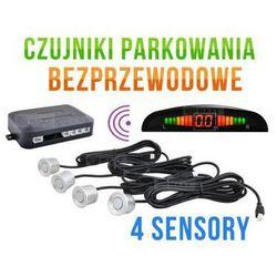 Bezprzewodowe Czujniki Parkowania (4-sensory + sygnalizator) - SREBRNE.