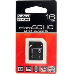 GOODRAM microSD 16GB CL10 UHS I + adapter DARMOWA DOSTAWA DO 400 SALONÓW !!