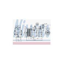 NISSENS Kompresor, klimatyzacja - 89042