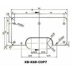 Podkładka wzmacniająca do zawiasów Kubica Koblenz K6700 asymetryczna