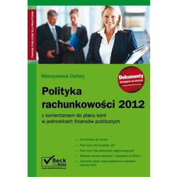 EBOOK Polityka rachunkowości 2012 z komentarzem do planu kont w jednostkach finansów publicznych
