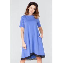 Borówkowa Sukienka w Kształcie Litery