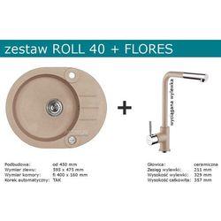 Zestaw ALVEUS ROLL 40 + FLORES (kolor CZARNY)