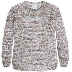 Sweter z okrągłym dekoltem, włóczka melanżowa, LAIA